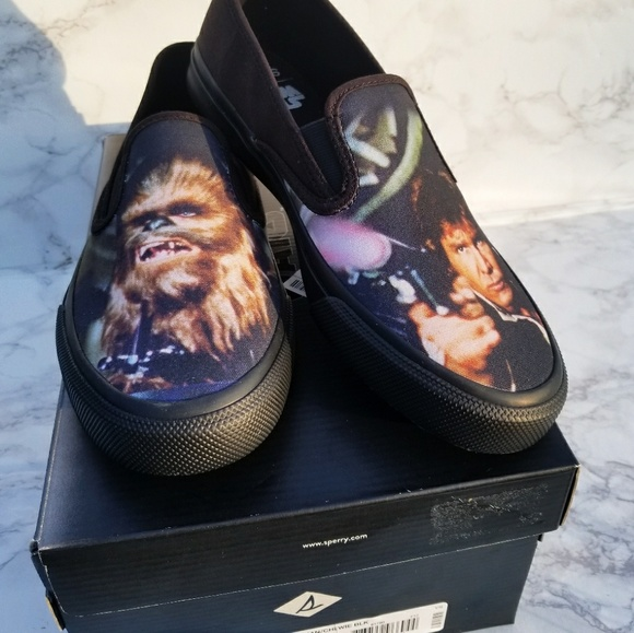 df086f03 Sperry Shoes   New Star Wars Han Solo And Chewie Slip Ons   Poshmark